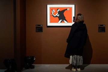Banksy Banksy Exhibition Attracts Visitors Before Stay-At-Home Weekend In Greater Tokyo