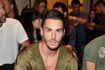 Baptiste Giabiconi Balmain : Front Row - Paris Fashion Week Womenswear Spring/Summer 2017