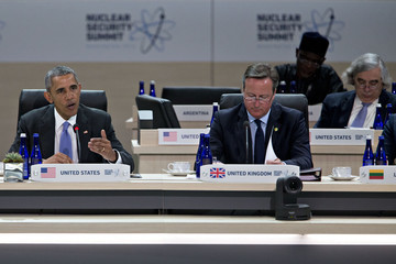Barack Obama David Cameron President Obama Participates in the Nuclear Security Summit