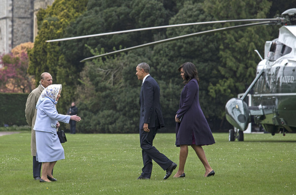 President Obama And The First Lady Lunch With The Queen and Prince Philip