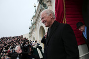 U.S. Vice President Joe Biden arrives during the presidential inauguration on the West Front of the U.S. Capitol January 21, 2013 in Washington, DC.   Barack Obama was re-elected for a second term as President of the United States.