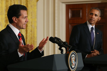 Barack Obama President Obama Holds News Conference With Mexican President Enrique Pena Nieto