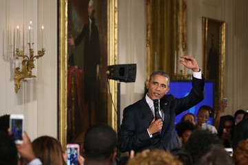 Barack Obama Michelle Obama Hosts 2015 Beating the Odds Summit at White House