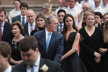 Barbara Pierce Bush Mourners, Including Former Presidents, Attend Funeral For Barbara Bush