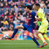 Faycal Fajr Photos - Sergio Busquets of FC Barcelona controls the ball under pressure from Faycal Fajr of Getafe CF during the La Liga match between Barcelona and Getafe at Camp Nou on February 11, 2018 in Barcelona, Spain. - Barcelona v Getafe - La Liga