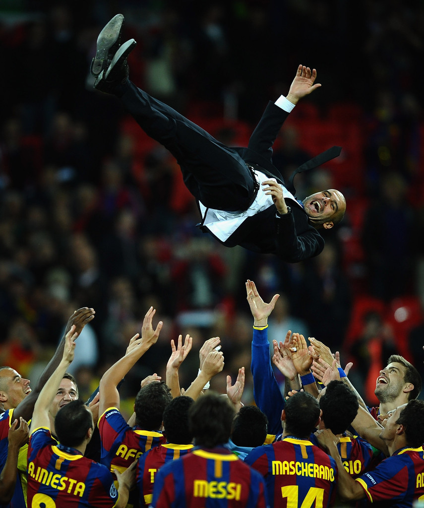 Barcelona Vs Real Madrid Or Liverpool Vs Manchester United: Josep Guardiola Photos Photos