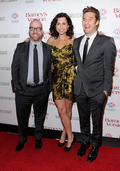 "Actors Paul Giamatti,  Minnie Driver and Scott Speedman attend the premiere of ""Barney's Version"" at Paris Theatre on January 10, 2011 in New York City."