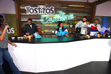 Barry Sanders The Tostitos Cantina At Super Bowl LIVE In Atlanta, Georgia