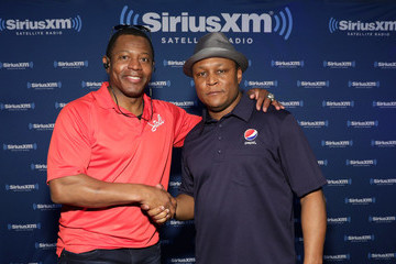 Barry Sanders SiriusXM at Super Bowl LI Radio Row