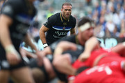 Jamie Roberts of Bath looks on during the Champions Cup Pool One match between Bath Rugby and Toulouse at Recreation Ground on October 13, 2018 in Bath, United Kingdom.
