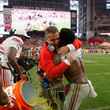 Urban Meyer and Ezekiel Elliott