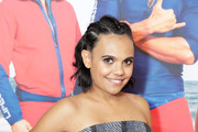 Miranda Tapsell attends the Australian premiere of 'Baywatch' at Hoyts EQ on May 18, 2017 in Sydney, Australia.