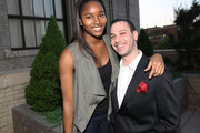 Model Damaris Lewis and Phil Reese attend The Beacon Condominiums Celebrates the Spring Issue Of Athletes Quarterly at The Beacon Condominiums on May 20, 2010 in Jersey City, New Jersey.