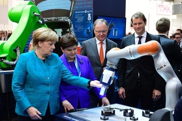 Beata Szydlo The Hannover Messe Trade Fair