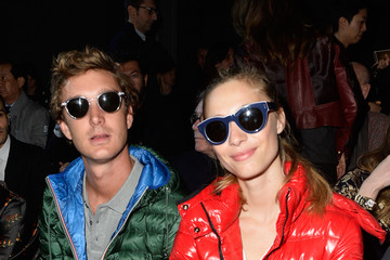 Beatrice Borromeo Pierre Casiraghi Front Row at Moncler Gamme Rouge