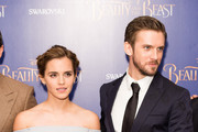 """(L-R) Emma Watson and Dan Stevens attend the UK Launch Event of """"Beauty And The Beast"""" at Odeon Leicester Square on February 23, 2017 in London, England."""