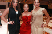 "(L-R)   TV personality Sammi ""Sweetheart"" Giancola, singer Adrienne Bailon and Julissa Bermudez attend the Bebe Fall 2011 fashion show at Style360 on February 16, 2011 in New York City."