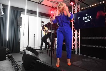 Bebe Rexha MTV's Cover of the Month Party at the YouTube Space