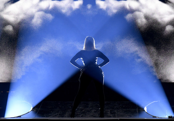 Jonas Brothers In Concert - New York, NY [blue,light,sky,performance,stage,photography,cloud,space,fictional character,graphics,bebe rexha,new york,madison square garden,jonas brothers in concert,concert]