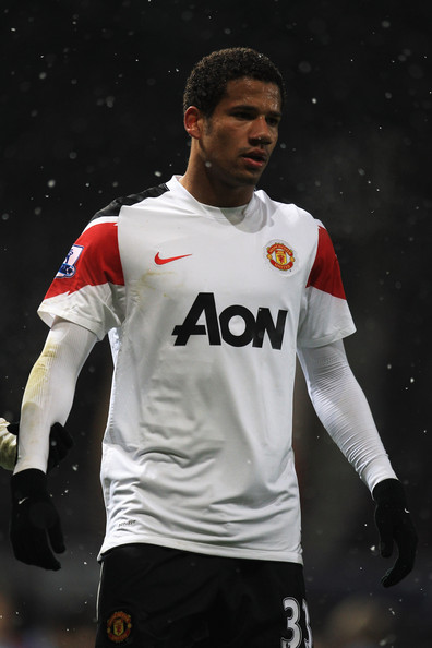 Bebe Bebe of Manchester United looks on during the Carling Cup Quarter Final match between West Ham United and Manchester United at the Boleyn Ground on November 30, 2010 in London, England.