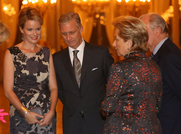 Princess Mathilde, Prince Philippe, Queen Paola and King Albert of Belgium attend a concert as part of 'Festival van Vlaanderen' at Palais de Bruxelles on October 24, 2012 in Brussel, Belgium.
