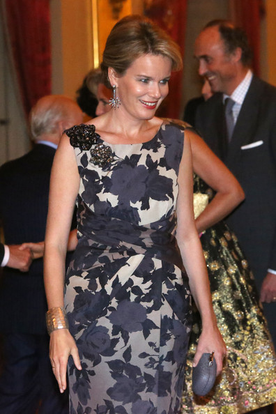 Princess Mathilde of Belgium attends a concert as part of 'Festival van Vlaanderen' at Palais de Bruxelles on October 24, 2012 in Brussel, Belgium.