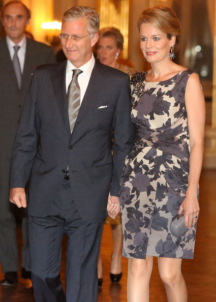 Prince Philippe and Princess Mathilde of Belgium attend a concert as part of 'Festival van Vlaanderen' at Palais de Bruxelles on October 24, 2012 in Brussel, Belgium.