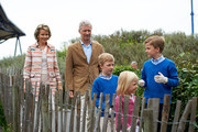 Queen Mathilde, King Philippe, Prince Emmanuel, Princess Eleonore and Prince Gabriel of Belgium visit Sealife on July 12, 2014 in Blankenberge, Belgium.