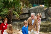 Prince Gabriel, Princess Eleonore, Princess Elisabeth, Prince Emmanuel, King Philippe and Queen Mathilde of Belgium visit Sealife on July 12, 2014 in Blankenberge, Belgium.