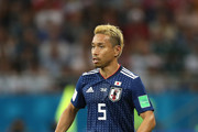 Yuto Nagatomo of Japan runs with the ball during the 2018 FIFA World Cup Russia Round of 16 match between Belgium and Japan at Rostov Arena on July 2, 2018 in Rostov-on-Don, Russia.