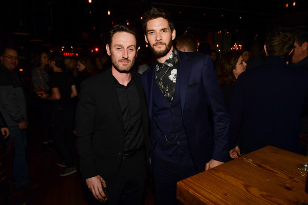 'Marvel's The Punisher' Los Angeles Premiere - After Party [the punisher,event,night,suit,fun,formal wear,room,facial hair,party,flash photography,ben barnes,josh stewart,arclight hollywood,california,marvel,los angeles premiere,party]