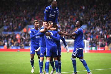 Ben Chilwell James Maddison Leicester City v Huddersfield Town - Premier League