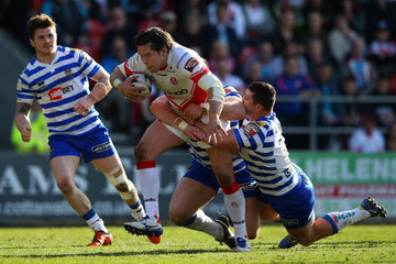 Ben Flower St Helens v Wigan Warriors - First Utility Super League