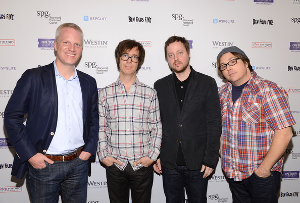 Starwood Preferred Guest Hosts An Exclusive Ben Folds Five Performance At The New Westin New York Grand Central [handout,event,design,premiere,white-collar worker,facial hair,guest,ben folds five,chris holdren,musicians,senior vp,performance,grand central,starwood,westin new york]