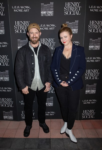 2019 Henry Street Social [fashion,event,outerwear,premiere,fashion design,jacket,style,l.e.s.,amber tamblyn,ben foster,henry street social,work,new york city,the bowery hotel,more art gala]