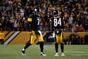 Ben Roethlisberger Antonio Brown Denver Broncos v Pittsburgh Steelers