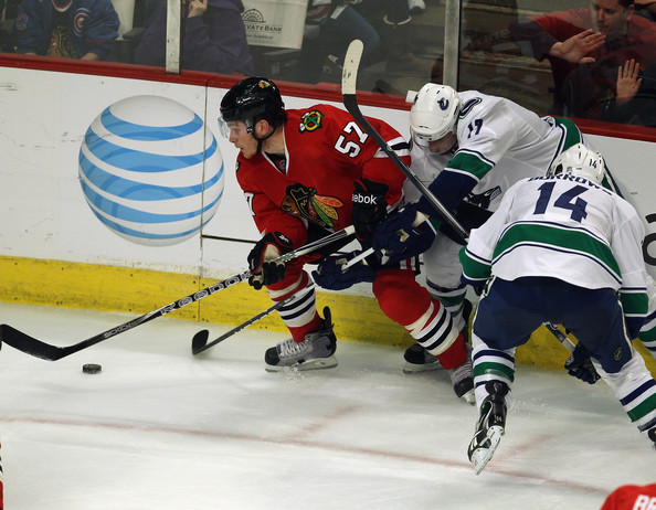 Ben Smith and Alexandre Burrows -  Vancouver Canucks v Chicago Blackhawks - Game Six