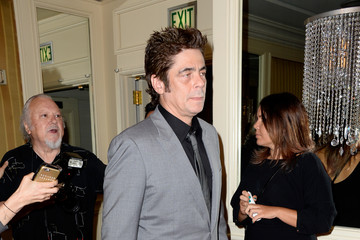 Benicio Del Toro Guests Arrive to the Hollywood Foreign Press Association Hosts Annual Grants Banquet