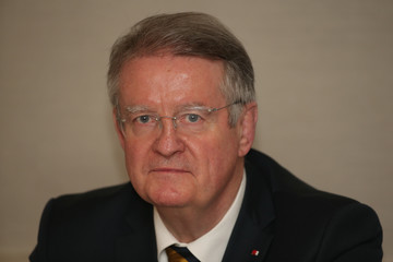 Bernard Lapasset Media Conference To Introduce New World Rugby Chairman and Vice-Chairman