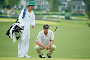 Bernhard Langer Terry Holt The Masters - Round Two