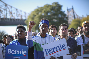 Bernie Sanders Bernie Sanders Returns To The Campaign Trail With A Rally In New York City