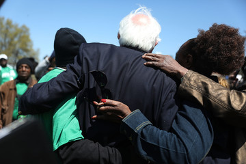 Bernie Sanders Memphis Marks 50th Anniversary Of Martin Luther King Jr's Assassination