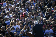 Democratic presidential candidate, Sen. Bernie Sanders (I-VT) speaks to supporters at a campaign rally in Queensbridge Park on October 19, 2019 in the Queens borough of New York City.  This is Sanders' first rally since he paused his campaign for the nomination due to health problems.