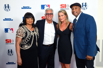 Bernie Williams Cookie Rivers Sports Illustrated Hosts Screening Of '14 Back'