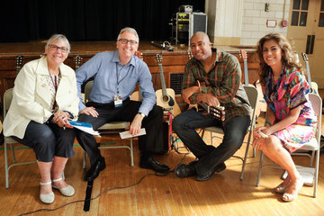 Bernie Williams Mary Luehrsen Music Industry Leaders and Artists Bring Music to D.C.'s Bancroft Elementary School