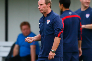 Berti Vogts USA Training & Press Conference - 2014 FIFA World Cup Brazil
