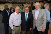 (L-R) Ron Alting, Leon Panetta and Steve Green attend Best Buddies Challenge: Hearst Castle Kick-off Reception Hosted by Maria Shriver at Tehama Golf Club on September 6, 2013 in Carmel, California.