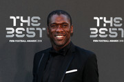 Former Dutch footballer, Clarence Seedorf arrives on the Green Carpet ahead of The Best FIFA Football Awards at Royal Festival Hall on September 24, 2018 in London, England.