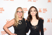 Best Friends CEO Julie Castle and Emmy Rossum attends Best Friends Animal Society's Benefit to Save Them All at Gustavino's on April 02, 2019 in New York City.