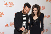 Justin Theroux and Emmy Rossum attend Best Friends Animal Society's Benefit to Save Them All at Gustavino's on April 02, 2019 in New York City.